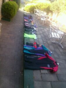 Wetsuits, springsuits, shorties, $10 to $60