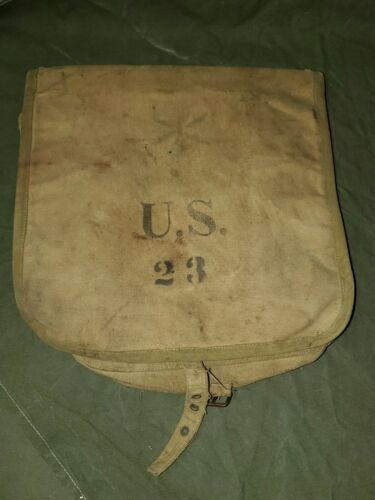 Span Am War M1898 Haversack Unit Marked SEE PICS and DESC
