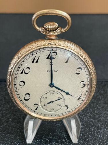 Vintage Elgin 15 Jewels Pocket Watch Size 12s Made 1923 Grade 315 Model 3