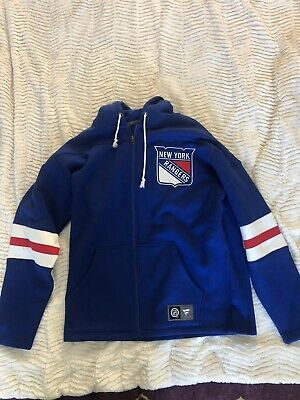 New York Rangers Fanatics NHL Hockey Zip Hoodie Men's Size Large NWT