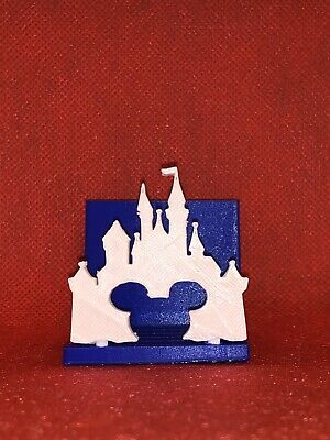 Disney Inspired 3d Printed Mickey And The Magical Castle Business Card Holder