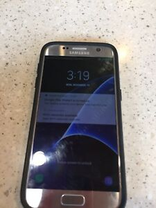 Samsung S7-32Gb Unlocked Titanium  Wprotective case& Charger