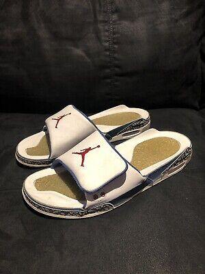 Nike Air Jordan 3 iii True Blue size 10.5 Slides Ovo Travis Scott Supreme Yellow
