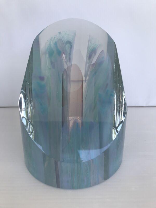 Joe Nielander 1994 Large Signed Art Glass Paperweight