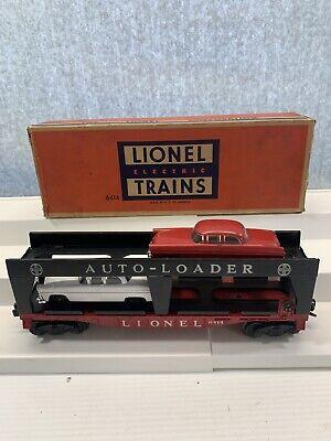 LIONEL #6414 AUTO-LOADER CAR TRANSPORTER TWO CARS O GAUGE ORIGINAL BOX Lionel Car Transporter