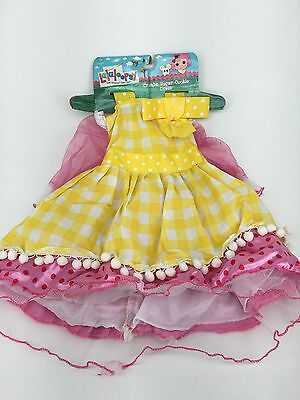 NEW Lalaloopsy Crumbs Sugar Cookie Dress Costume 2T 3T 4T Halloween NWT ()