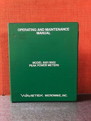 Wavetek Model 85018502 Peak Power Meters Operating Maintenance Manual 2962