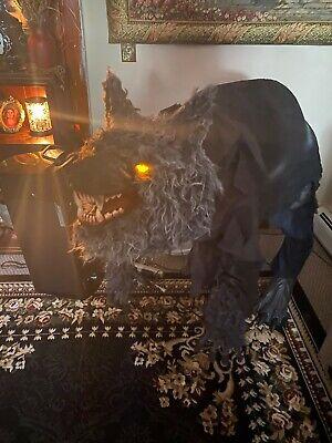 Life-Sized Howling Werewolf ~ Animated Halloween Spirit Halloween 4 ft w box