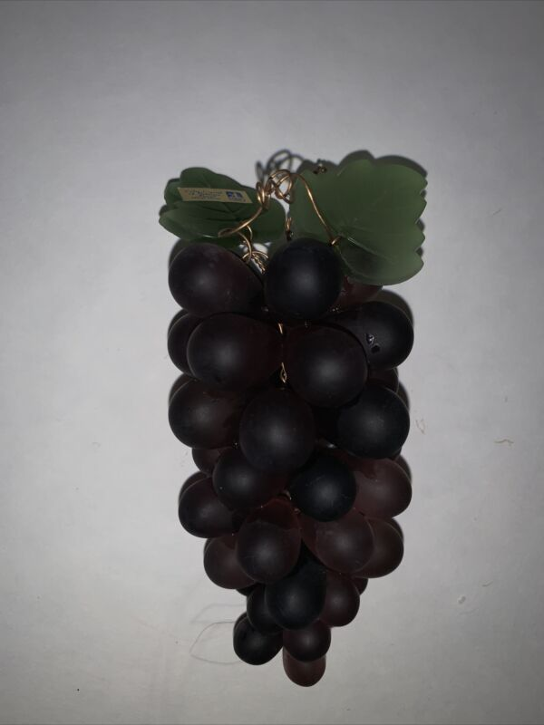 "Mavas Svaton Color Crystal of Bohemia Grapes Bunch Purple Czech Hand Made 5"" A1"