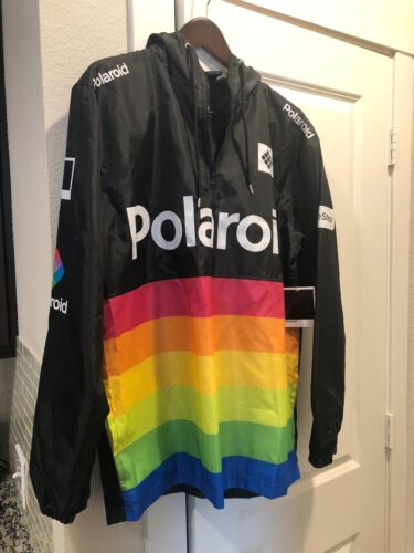 Polaroid Rainbow Camera Wind Breaker Water Resistant Hooded