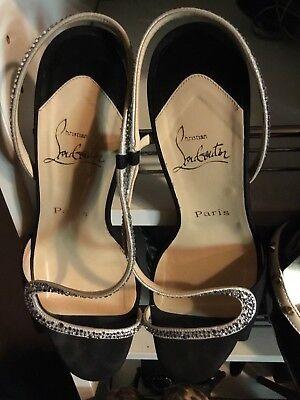 Womens designer CHRISTIAN LOUBOUTIN size 9 w/rhinestone shoe HOT!