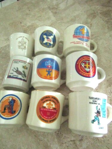 Boy Scouts of America Variety Of Commemorative Council & Jamboree Mugs- Lot of 9