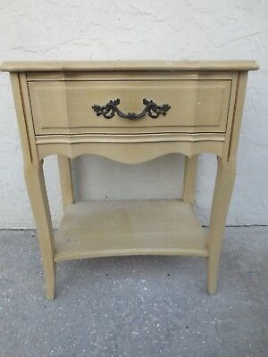 TL Serpentine Nightstand French Provincial Hollywood Regency Country Louis XVII Bedroom French Country Nightstand
