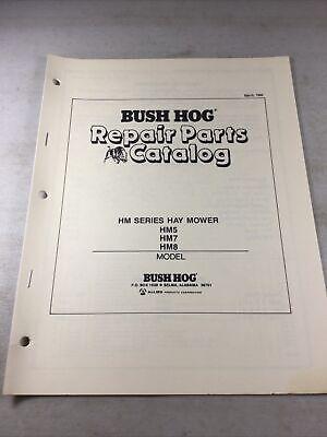 Bush Hog Hm5 Hm7 Hm8 Hay Mower Parts Manual