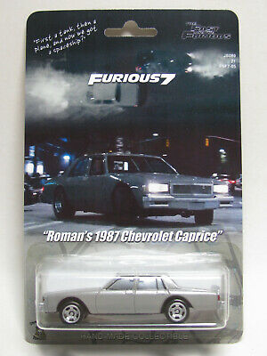 Furious 7 Roman's Gray 1987 Chevrolet Caprice Stock Car Ramsey Custom Hot Wheels
