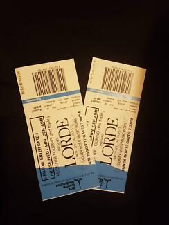 2×LORDE TICKETS SIDNEY MYER MUSIC BOWL