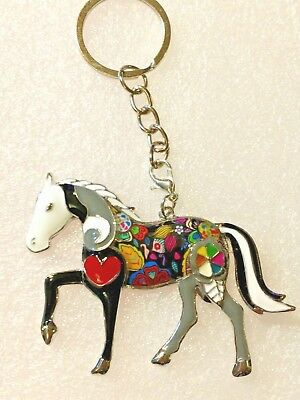 Horse Mustang Key Ring Enamel Alloy Keychain Multicolor Jewelry