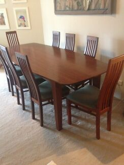 Solid Dining Table And 8 Chair Set 2000