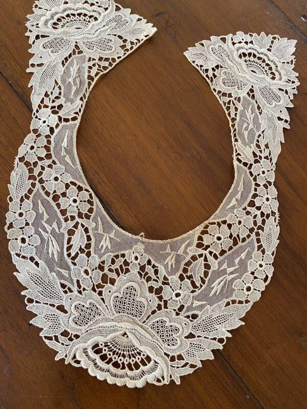 Antique Lace Collar Victorian Floral Estate Find (24)