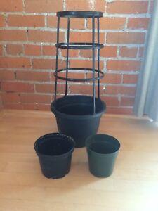 Plastic pots, tomato plant pot