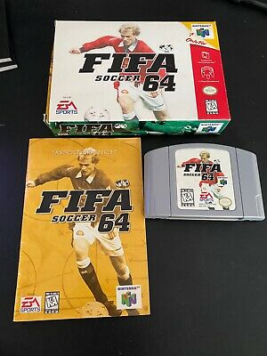 FIFA Soccer 64 Nintendo 64 in box N64 COMPLETE IN BOX, incl manual, cart and box