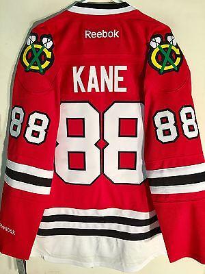 e076573134d Reebok Premier NHL Jersey Chicago Blackhawks Patrick Kane Red sz L