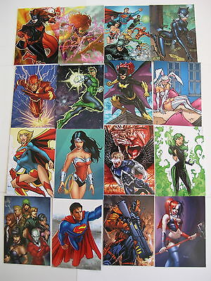 DC New 52 by Cryptozic 2012 Set of 62 Cards includes Checklist Card