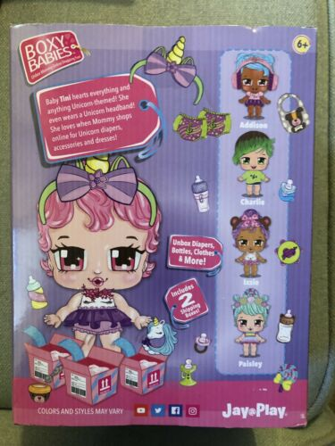 New Boxy Girls Boxy Baby Tini Unbox Diapers Bottles Clothes And More  - $6.00