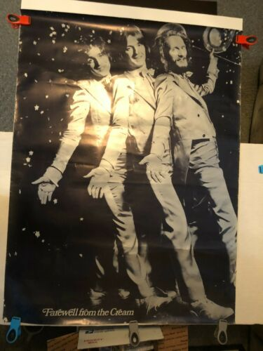 """Vtg Farewell From The Cream Promotional Record Store Poster Eric Clapton 30""""x40"""""""
