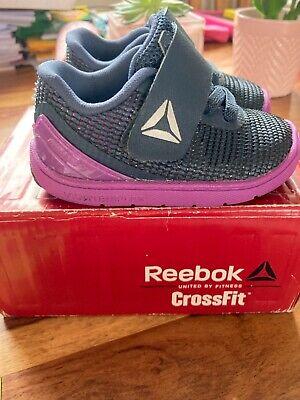 Brand New Reebok Baby Girls Purple & Blue CrossFit Trainers Infant Size...