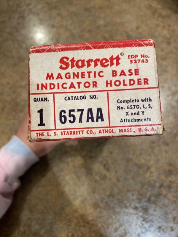 STARRETT No. 657AA Magnetic Base Indicator Holder - Complete Set. USA Made.