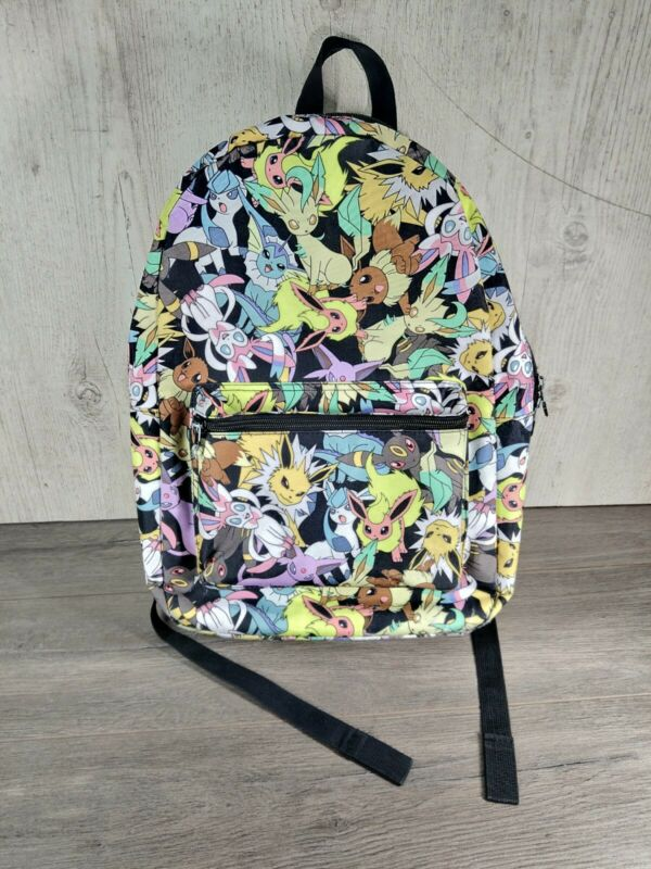 Pokemon Eevee Evolutions Backpack Flareon Jolteon Vaporeon Espeon Umbreon ...
