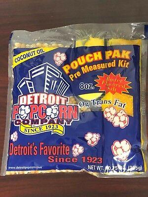 Popcorn Coconut Oil 8oz. Kit 24 Packs Naks Paks