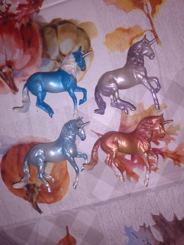 Breyer Stablemates Lot Alborozo Unicorns Horse Crazy Series 3 4 Mystery Surprise