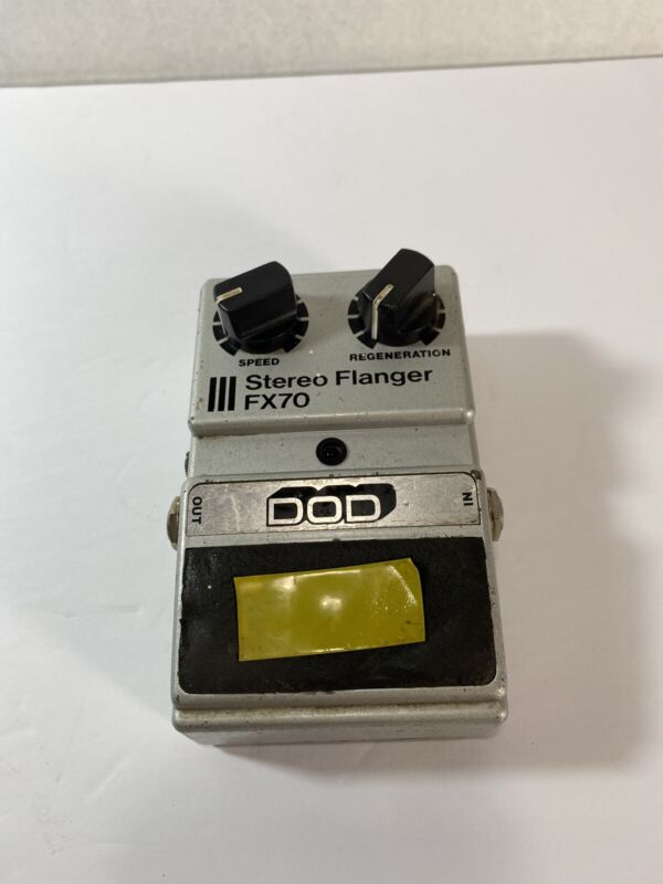 Vintage 1983 DOD FX70 Stereo Flanger Guitar Effect Pedal