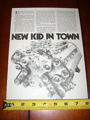 1978 DRAKE ENGINEERING DT-160 V-8 DOHC ENGINE - ORIGINAL ARTICLE