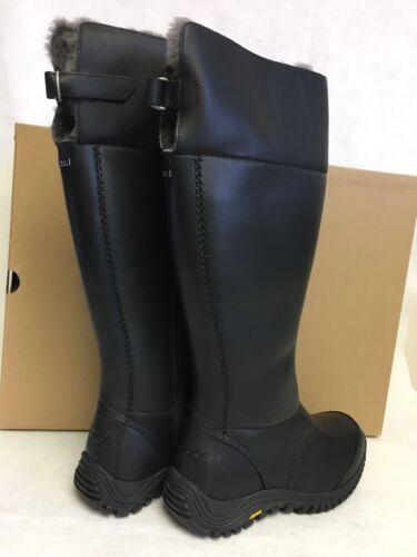 e9393123ff7 Женские сапоги или ботинки UGG Australia TALL MIKO BLACK WATERPROOF LEATHER  SHEEPSKIN BOOTS 1012519