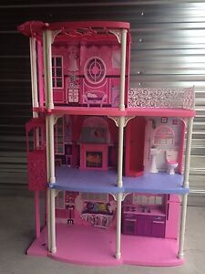 3 story Barbie playhouse with accessories