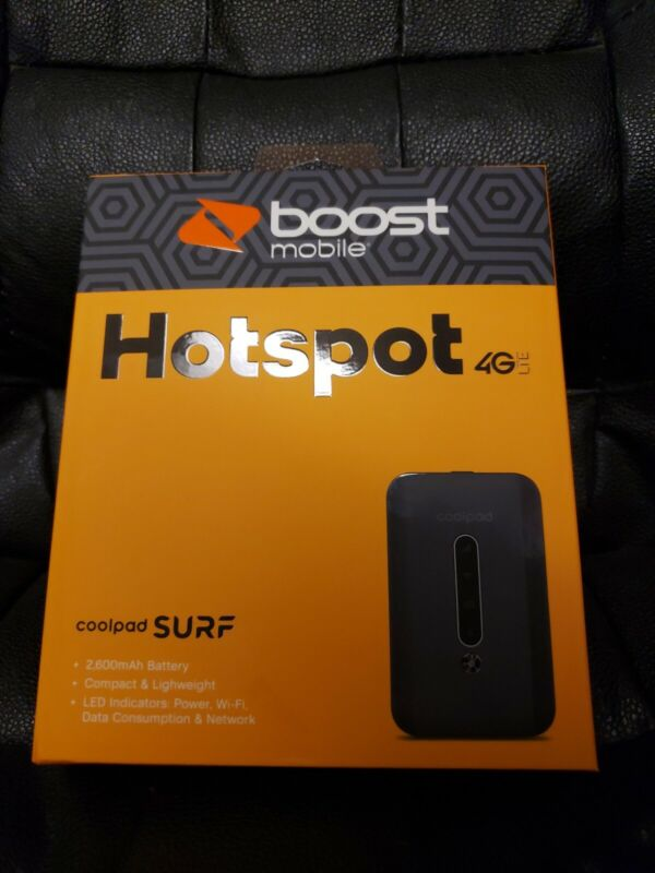 Brand New Sealed Boost Mobile Coolpad Surf Hotspot Device 4G LTE Wifi Portable