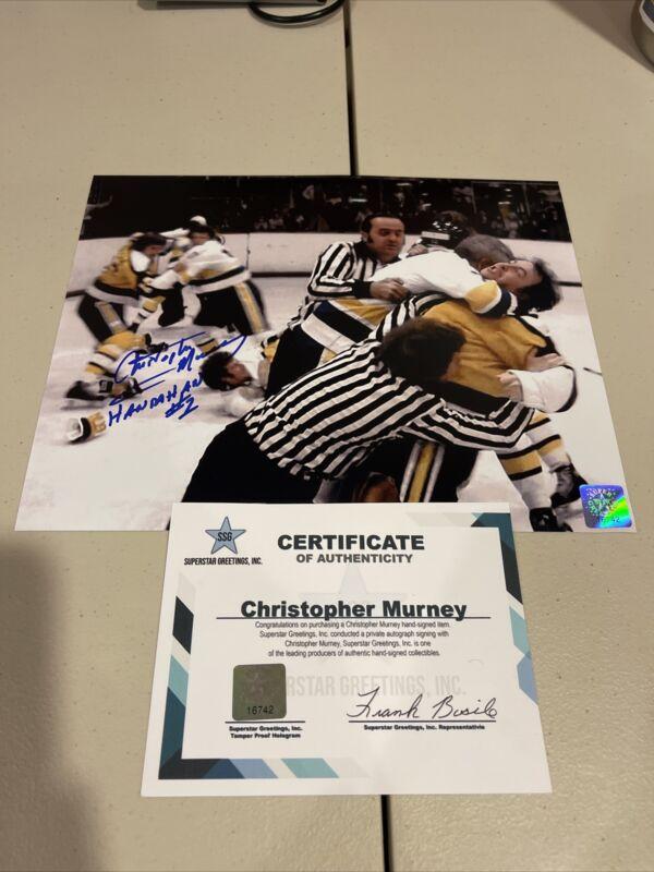 Autographed Christopher Murney Signed 8x10 Photo Hanrahan Slapshot Ducks Ssg Coa