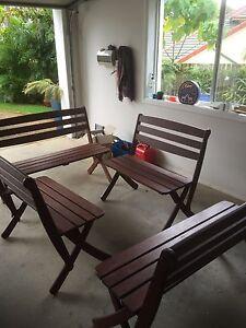 Solid jarrah bench seats The Gap Brisbane North West Preview