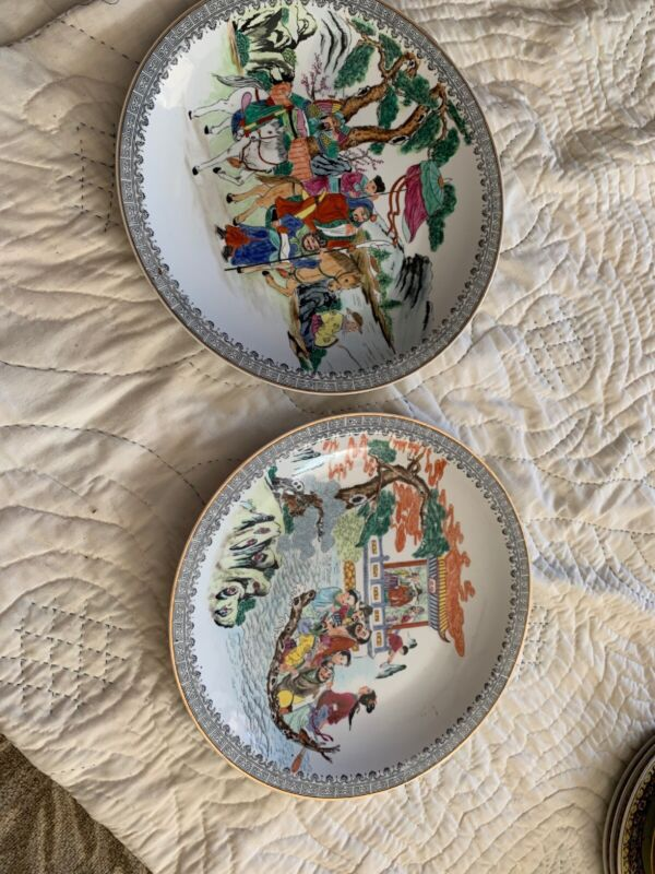 2 Export Chinese Famille Rose Large Platters Signed L@@K