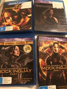 Set of 3 Bluray Hunger Games Movies ( 1 DVD Version)