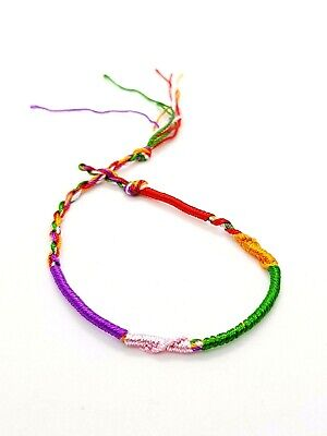 Thai Friendship Braid Bracelet Multi Colour Thin Comfy Hair Braid or Bracelet..