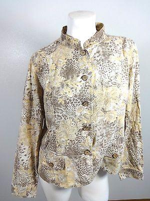 Womens Pfirsich (Christopher & Banks Womens Braun & Pfirsich Linien Mischung Jacke Blazer Größe)