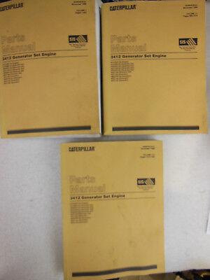 Caterpillar - 3412 Generator Set Engine - Parts Manual Vol. 1 2 3 - 1999