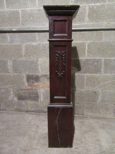~ ANTIQUE CARVED OAK NEWEL POST ~ 48.5 TALL ~  ARCHITECTURAL SALVAGE ~