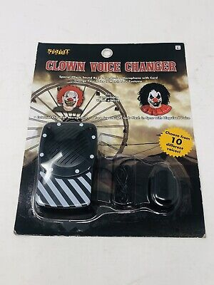 Spirit Halloween Clown Voice Changer Special Effects Sound Box and Mic NEW