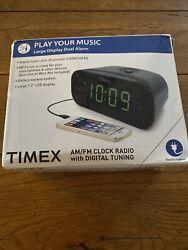 Timex T231G Dual Alarm AM/FM Clock Radio with Digital Tuning Line-In