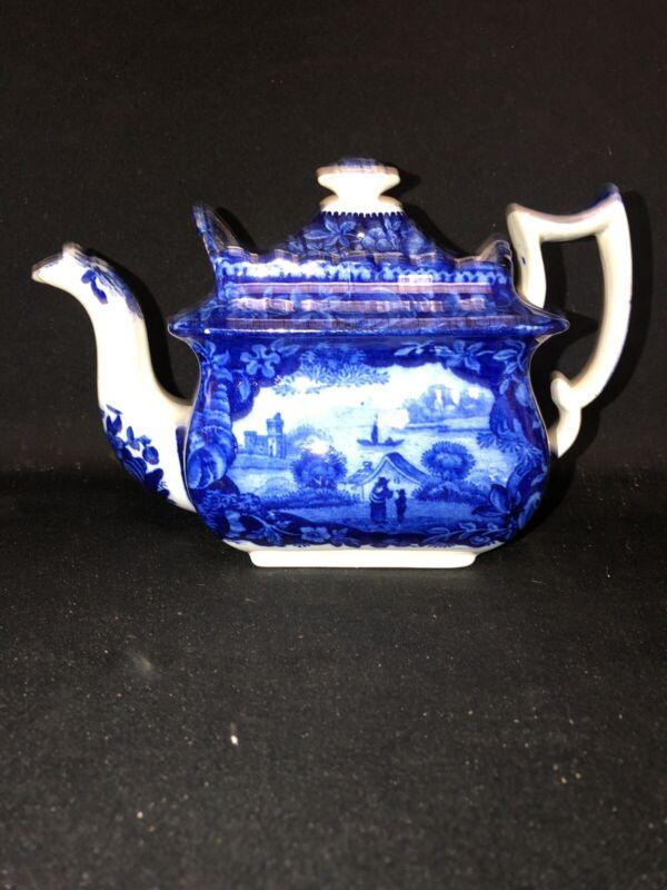 Dark Blue Staffordshire Teapot